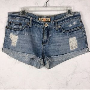 [YMI] Classic Ripped Jean Shorts